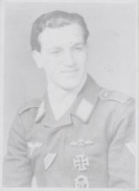 Jiří Jarkuliš, witness' father, in the Luftwaffe uniform, in 1943