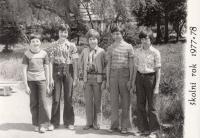 Jako student v novém americkém tričku - dvě facky od třídní učitelky, r. 1977