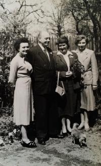 Celá rodina Roubínkova v 70. letech