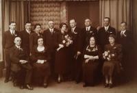 Svatební fotografie Evy a Břetislava z roku 1937
