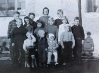 Mother Františka Langerová with her grandchildren