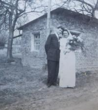 Wedding of Václav and Jarmila Langr in 1955