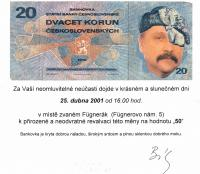 Pozvánka na oslavu 50. narozenin Bély Szaló