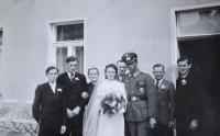 Svatba sestry Elfridy s Herbertem Bergem. Drážďany 1943.
