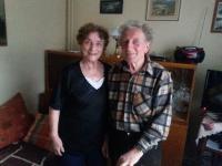 Eduard Kraus s Martou Kubošovou doma, Lubenec, únor 2016