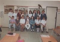 Eduard Kraus jako učitel s žáky 9. třídy, ZŠ Lubenec, 1999