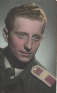 Eduard Kraus, rotný absolvent, Olomouc, 1957