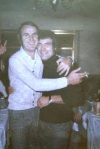 Budoucí manžel Jaroslavy Krejčové (vlevo) s Andreou, přítelem Heleny, Florencie, 1969-70