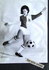 Helena, promotofo na chystaný zápas v USA, Praha, 1968