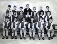 TJ Slavia Praha, Helena v prostřední řadě druhá zprava, Praha, 1965