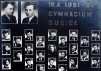 Graduating class' photo of the grammar school in Sušice