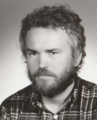 Petr Pavlík portrait, Prague 1980
