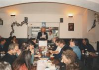 50th birthday party as Dr.Pavel Petřík, At Růžový sad pub in Prague 2, 1995