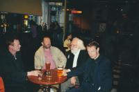 With the Dean of Glasgow School of Art, Richard Drury right and Jiří Beránek in the middle after the lecture on Czech art, Glasgow 2000
