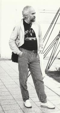 Petr Pavlík, the exhibition V Jatkách, about 1988