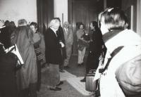 With Milan Knížák during the Symposium AVU, Prague 1995