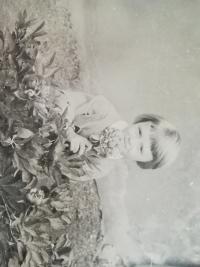 Viera Boronkayová as a child
