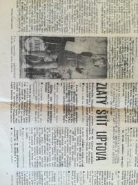 Zlatý štít Liptova in a newspaper
