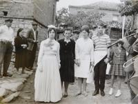 Svatba příbuzných v obci Velos v Řecku v sedmdesátých letech