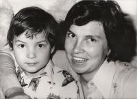 manželka Jana a syn Tomáš