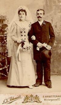 svatba prarodičů ve Vídni