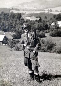 Otec H.Babora, Vladimír Babor v lesnické uniformě