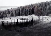 Železná opona, tak jak si ji vyfotografoval H.Babor během svých pochůzek po šumavských lesích