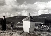 Landscape around Železná Ruda before the war. The chapel (and many others) was demolished after 1948.