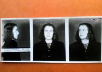 Police photo of Marie Heine before the imprisonment