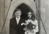 Svatba na Karlštejně v roce 1973