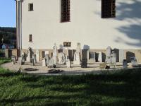 Remnants of the German Cemetery near the church in Horní Lipce