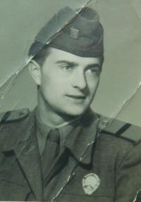 Husband Antonín Laryš in the army