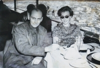 With the first wife (Jiřina) in Mexico City