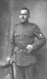 Father Josef Špinler in Austria for the Hungarian Army during the First World War