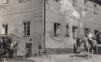 Jan Hrad na záběru z filmování