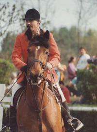 Jan Hrad na jezdeckých závodech - r. 1997