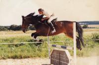 Jan Hrad při jezdeckém tréninku