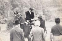 Gratulace po závodě - r. 1978