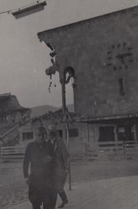 Po zemětřesení ve Skopji v Makedonii - r. 1960