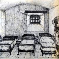 Další kresba cely