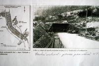 Tunel v hoře Kohnstein pro výrobu raket V-2. Poblíž koncentrační tábor Dora