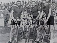 Trio of cyclists: František Jursa, Zdeněk Pešek, Vojtěch Pecina