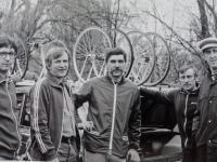 Organization team from Dukla, Jiří Lužný, František Jursa, Jiří Daler, Jaroslav Bugner
