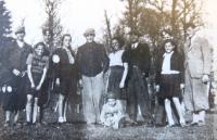 Jewish youth in Chust. Antonín Moťovič third from left. 1940´s
