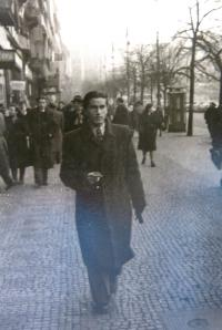 At Wenceslas square, after the WWII