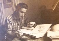 Antonín Moťovič as a student in Prague, 1950´s