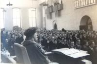Graduating from school, 1953