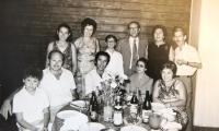 With friends, Antonín Moťovič in the middle, 1960´s
