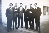 With colleagues.  MUDr. Antonín Moťovič first from left.