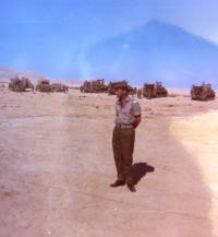 MUDr. Antonín Moťovič medical officer. Israel, 1968.
